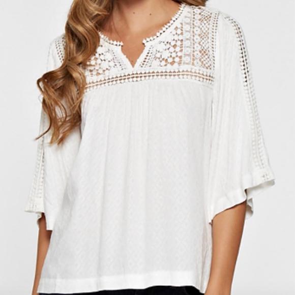 0f741a3eb4 Lovestitch Tops | Nwt Crochet Lace Top Off White | Poshmark